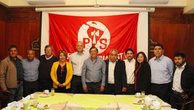Presidente Nacional del PS proclamó a Carmona como candidato al senado de su colectividad