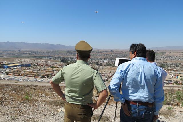 Con Drones apoyan seguridad en población Torreblanca.